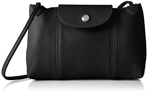 Sac bandoulière Longchamp Pliage Cuir, Sac Donna Nero Tracolla (noir 001)