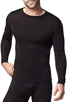 Lapasa Mens Merino Wool Base Layer Thermal Shirt (Black)