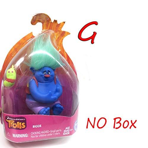 VIET FG 11 Style Cartoon Trolls DreamWorks Movie Action Figure Toys Poppy Branch Kawaii Trolls Dolls Toys for Children Kids Gifts #E -Complete Series Merchandise -