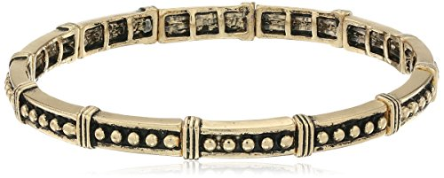 BCBGeneration Textured Faux Wire Wrapping New Gold Stretch Bracelet (Faux Gold Anklet)