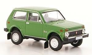 Lada Niva, verde, Modelo de Auto, modello completo, Brekina 1:87