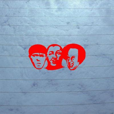 Sticker Decal Notebook Adhesive Vinyl Art Red Decoration Vinyl Three Stooges Larry Mo Curly Heads Home Decor Helmet Window Wall Laptop