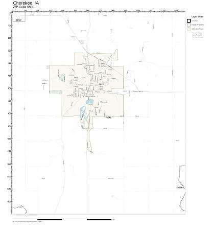 Cherokee County Zip Code Map.Amazon Com Zip Code Wall Map Of Cherokee Ia Zip Code Map Not