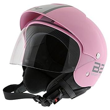 Casco Cascos Jet Demi abierto de para mujer moto scooter rosa morado AGV New Bali Talla