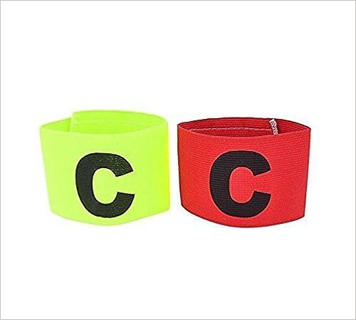 Tenis Rojo y Verde JER Banda de Capit/án Juego de 2/pcs Cintas el/ásticas Ajustable de Nailon mu/ñequeras Deportivas para f/útbol Baloncesto