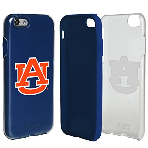 Guard Dog Auburn Tigers Clear Hybrid Case for iPhone 6 / 6s with Dark Blue Insert and Guard Glass Screen Protector