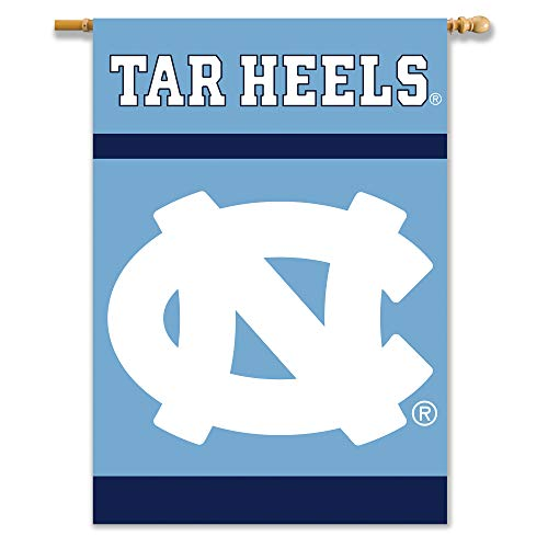 Pole Sleeve House - NCAA North Carolina Tar Heels 2-Sided 28-by-40 inch House Banner with  Pole Sleeve