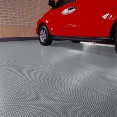G-Floor 55 mil Ribbed 7.5' x 17' Slate Grey (Vinyl Flooring Garage)
