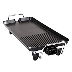 Vorcool 26pcs Electric Nonstick Bbq Grill Barbecue Oven Roasting Pan Barbecue Griddle Cookware Kitchen Cooking Tools With Uk Plug