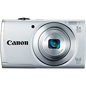 Canon PowerShot A2500 16MP Digital Camera with 5x Optical Image Stabilized Zoom with 2.7-Inch LCD (Silver) (OLD MODEL)
