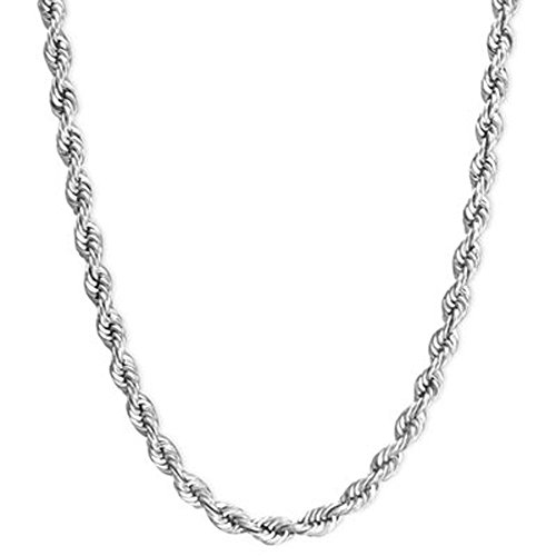 Sterling Silver Rope Chain Necklace Solid 2mm Wide 20-24