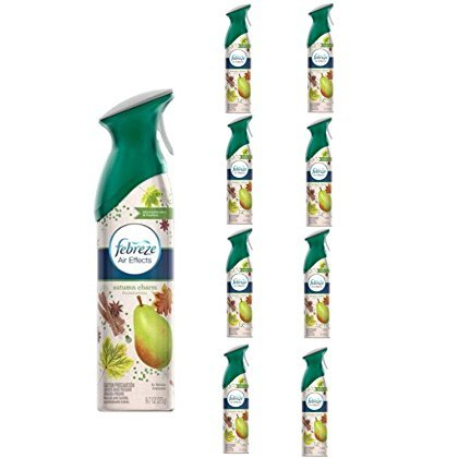 Febreze Limited Holiday Edition Air Effects Room Spray AUTUMN CHARM 9.7 oz (9 PACK)