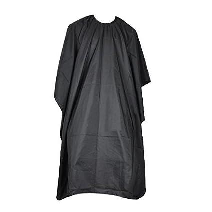 Homgaty negro de salón de peluquería para vestidos de novia barberos capa de corte de pelo