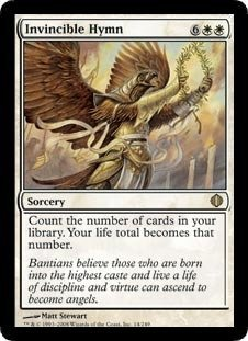 Magic: the Gathering - Invincible Hymn - Shards of - Rare Single Card Sorcery