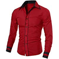 Camisa de los hombres, neartime Casual Basic Vestido Camisa Manga Larga Tops