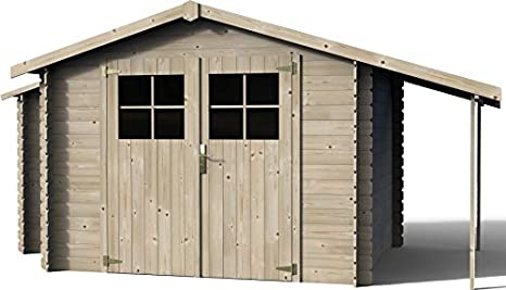 Decor et jardin – Casita de madera Talcy 269 x 229 x H 210 cm – Paredes 19 mm: Amazon.es: Jardín