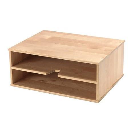 Ikea förhöja - Bandeja para cartas Madera de Abedul: Amazon ...