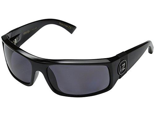 VonZipper Kickstand Sunglasses Gloss Black with Wildlife Vintage Grey Polarized Lens