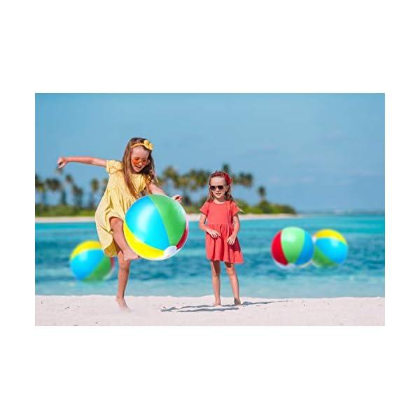 Top Race Palloni da Spiaggia gonfiabili Jumbo da 24 Pollici per Piscina, Spiaggia, Feste estive e Regali   Pallone da… 2 spesavip