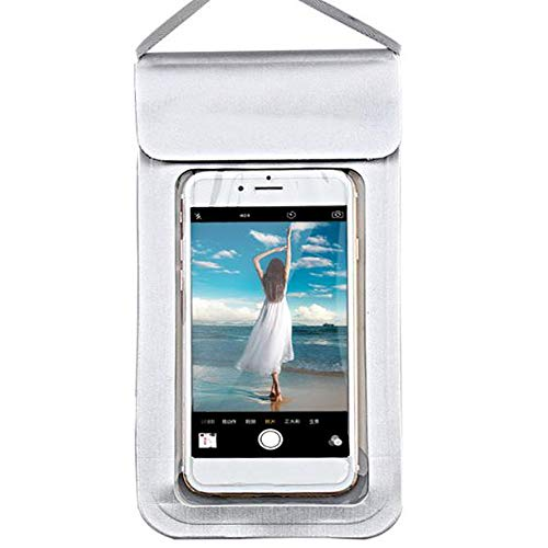 Silver Nokia Pouch - AMhuui General Purpose Mobile Phone Waterproof Sleeve, Drying Bag for iPhone Xs Max/XR/X/8/8P/7/7P Galaxy up to 6.4