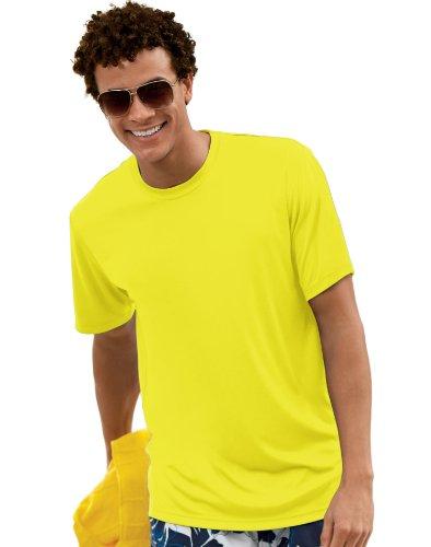 Hanes Cool DRI TAGLESS Men T-Shirt,Safety Green,X-Large