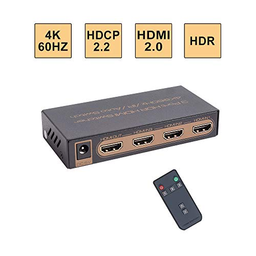 E-SDS UHD 4K@60Hz HDMI Switch,3x1 HDMI Switcher IR Wireless Remote,HDMI 2.0,HDCP 2.2 ()
