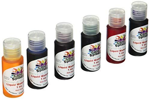 S&S Worldwide PT3253 Liquid Watercolors, Grade:1 to 12, (Pack of 6)