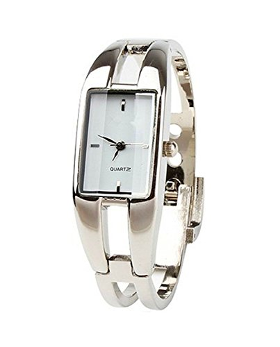 (Elegant Fashion Square Lady's Women's Bracelet Bangle Wrist Quartz Watch)