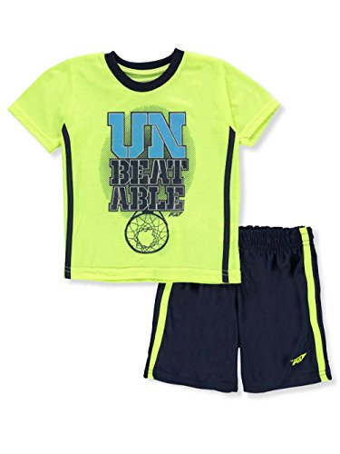 Price comparison product image Pro Athlete Baby Boys' 2-Piece Short Set Outfit - Lime / Multi,  12 Months