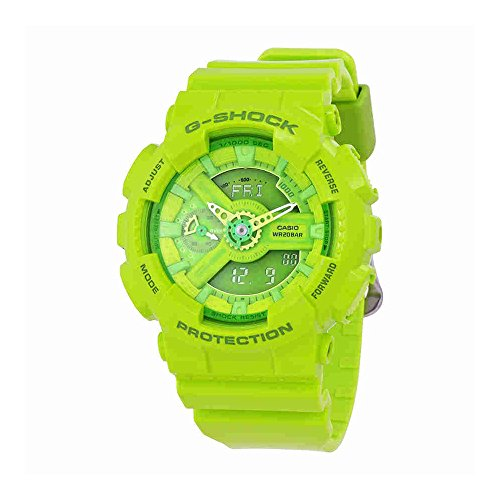 Casio G-Shock Green Dial Green Resin Multi Quartz Ladies Watch GMAS110CC-3A