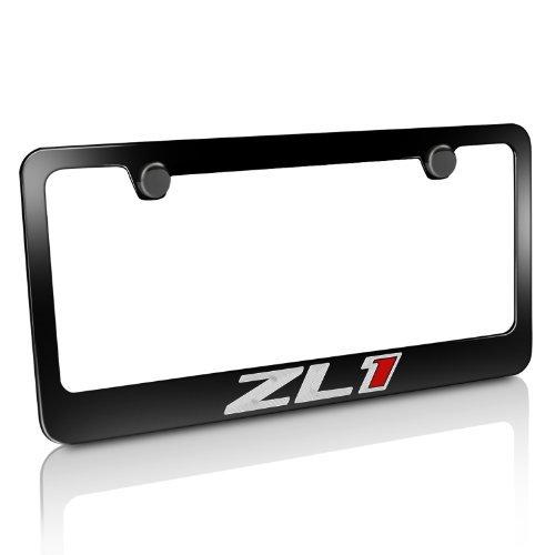 Chevrolet Camaro ZL1 Black Metal License Plate Frame