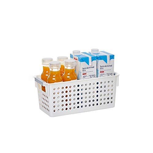 Kcakek Snack-cocina for guardar objetos cesta de plastico cesta del almacenaje de la cesta de bano de las miscelaneas de escritorio acabado cuadro multifuncional dispositivo de almacenamiento de la ce