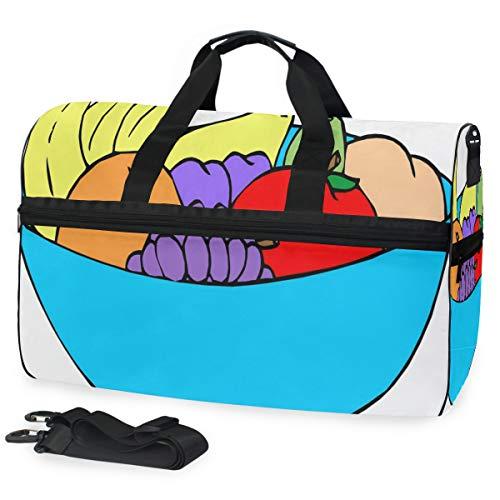 - Gym Bag Cartoon Fruit Bowl Sport Duffle Holdall Bag Training Handbag Yoga bag for Men Women