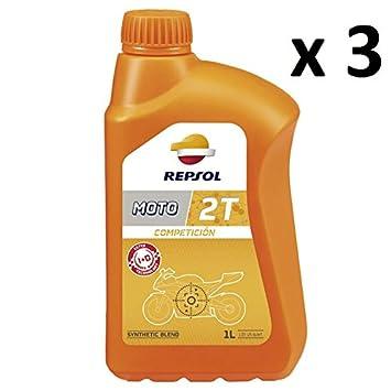 REPSOL Aceite Moto Mezcla COMPETICION 2T 100% Fibra Hueca ...