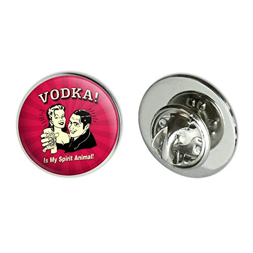GRAPHICS & MORE Vodka is My Spirit Animal Funny Humor Metal 0.75