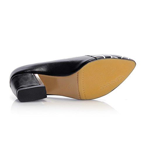 femmes uréthane pour soulèvement noir de MMS05428 baskets en Chaussures à chaton Talons Paisley pointu bout et 1TO9 de twqzIng