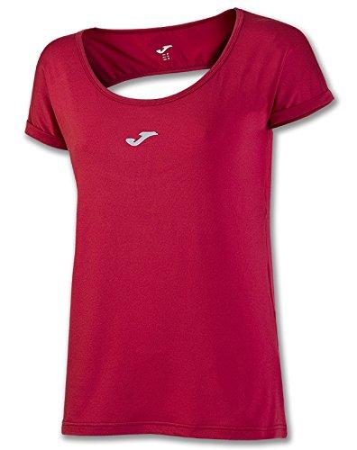 Joma - Camiseta tropical rojo espalda redonda m/c para mujer