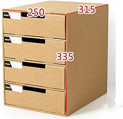 Meldycp-OFFICE Caja de Almacenamiento de Papel A4 con múltiples ...