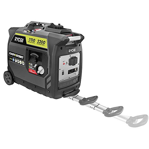 Ryobi 2200-Watt Gray Gasoline Powered Digital