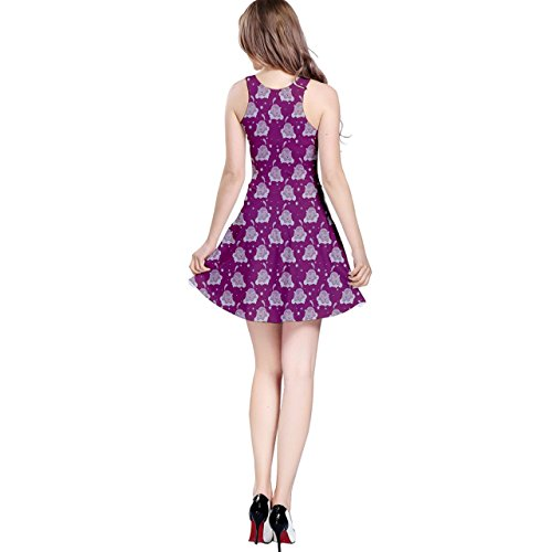 CowCow Dress Womens Cats Cute Sleeveless Pattern Purple 708OF8qnCw