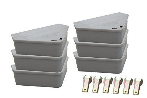 Venditor 6 Pack Mouse Bait Station with 6 Keys Child and Pet Safe Rodent Bait Stations with 2 Bonus Ant Poison Stations by Venditor