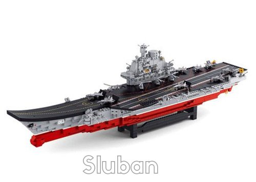 Sluban Navy Aircraft Carrier - 1875 Pieces (Brand New in Original English Box) 100% LEGO Compatible - Educational Toy - Building Blocks (M38-B0388)