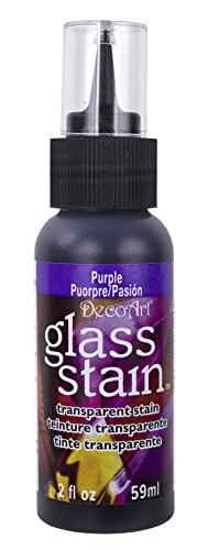 Glass Stain Paint (Transparent Glass Stain 2 Ounces-Purple)