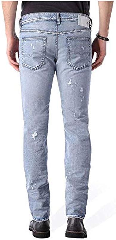 Diesel Designer męskie spodnie jeansowe Buster Regular Slim Tapered 0852H męskie dżinsy W36/L32: Odzież