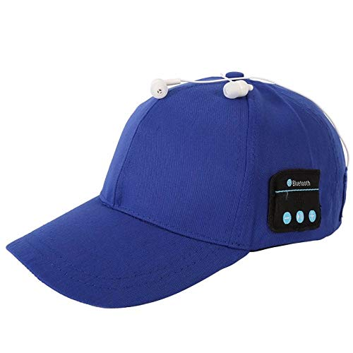 Musical Baseball (BALANSOHO Bluetooth Baseball Cap Wireless Smart Musical Hat Washable with Stereo Speakers & Mic Fit for Outdoor Sports, Awesome Christmas Tech Gifts for Women Men Teen Boys Girls (Blue))