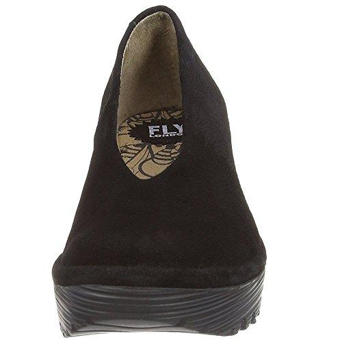 Vlieg Londen Dames Yaz Sleehak Sandalen Zwart