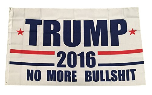 TrendyLuz Flags Donald Trump Flag President 2016 No More BS Make America Great Again MAGA 3×5 Feet Printed Flag By