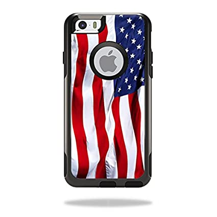 reputable site 9de58 16cf1 MightySkins Protective Vinyl Skin Decal Cover for OtterBox Commuter iPhone  6/6S Case Cover Sticker Skins American Flag
