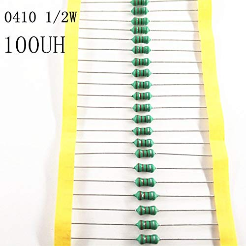 Maslin 50pcs//lot 1//2W Chromatic Ring Inductor DIP 0410 100UH AL0410-101K 0.5W inductance