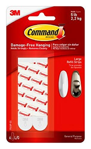 3M 17023P Command Mounting Refill Strips, Large, 24-Strip, - Replacement Command Strips